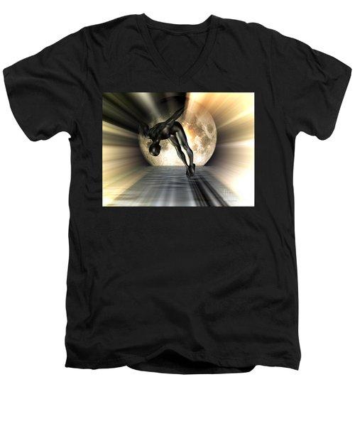 Night Swan Men's V-Neck T-Shirt