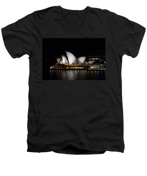 Night Symphony Men's V-Neck T-Shirt