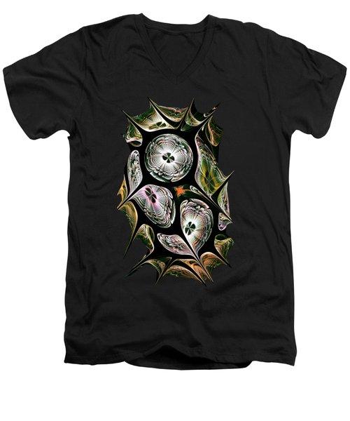 Night Vision Men's V-Neck T-Shirt by Anastasiya Malakhova