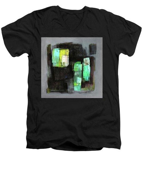 Texture Of Night Painting Men's V-Neck T-Shirt by Behzad Sohrabi
