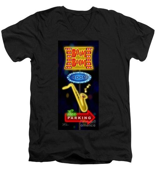Nightclub Sign Boom Boom Room Men's V-Neck T-Shirt