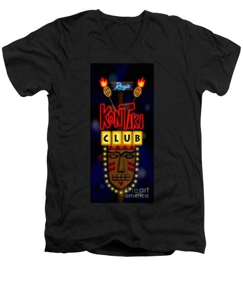 Nightclub Sign Rays Kon Tiki Club Men's V-Neck T-Shirt