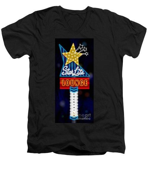 Nightclub Sign Starlite Lounge Men's V-Neck T-Shirt