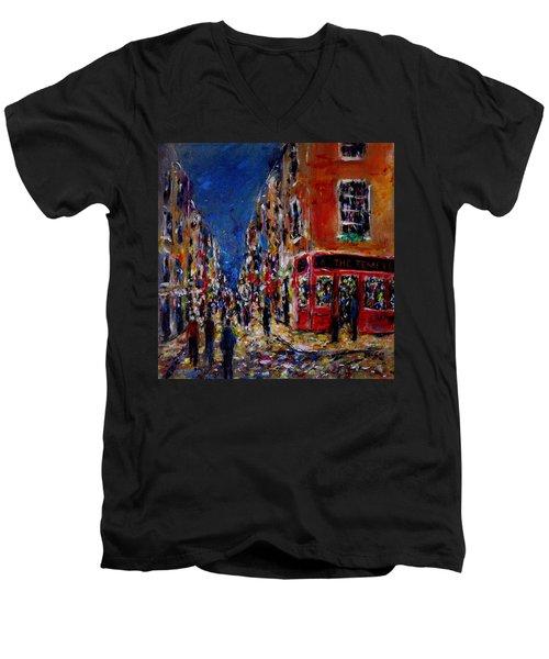 Nightlife, Temple Bar Dublin  Men's V-Neck T-Shirt