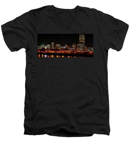 Nighttime In Pdx Men's V-Neck T-Shirt