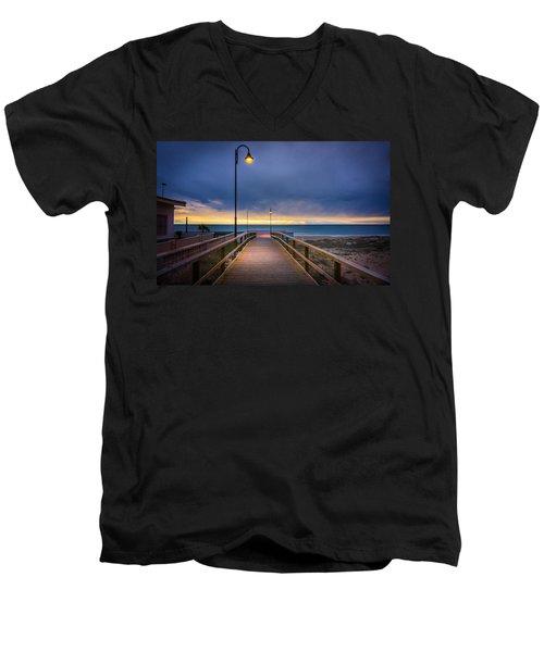 Nighttime Walk. Men's V-Neck T-Shirt