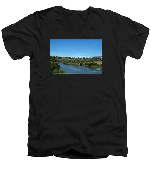 Men's V-Neck T-Shirt featuring the photograph Niobrara River by Mark McReynolds