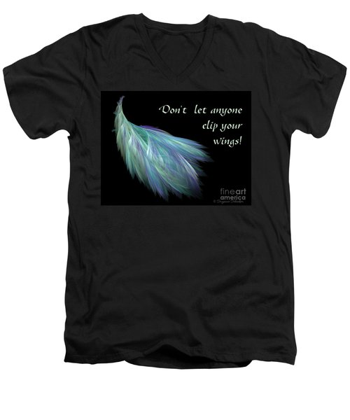 Wings Men's V-Neck T-Shirt by Suzanne Schaefer