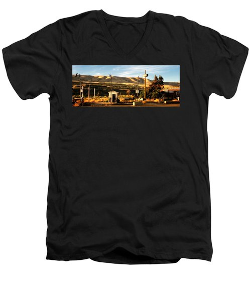 Men's V-Neck T-Shirt featuring the photograph No Gas... by Albert Seger