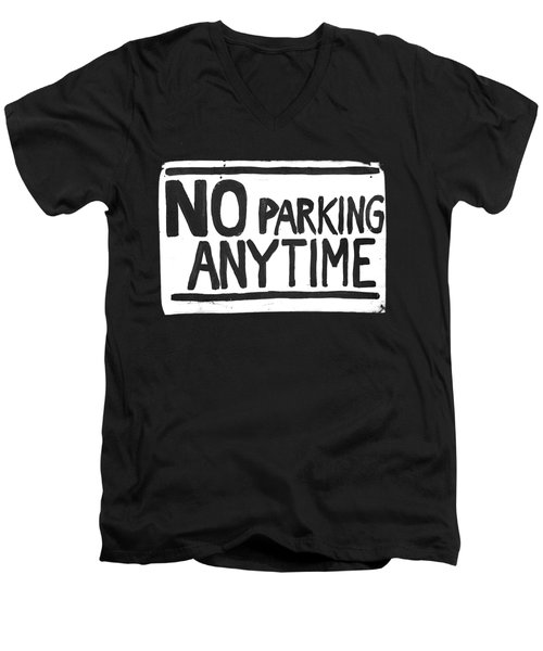 No Parking Men's V-Neck T-Shirt by H James Hoff