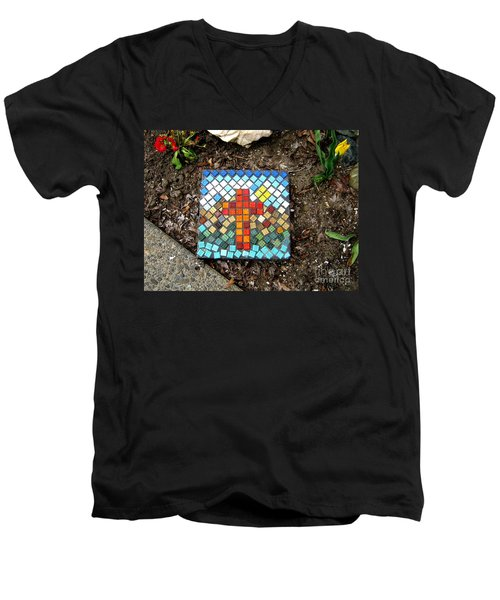 No Stepping Stone Men's V-Neck T-Shirt by Marie Neder