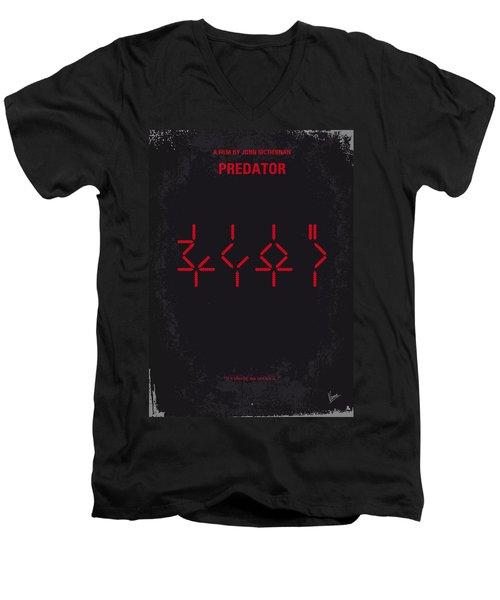 No066 My Predator Minimal Movie Poster Men's V-Neck T-Shirt