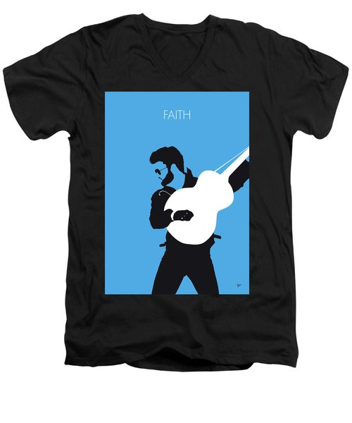 No089 My George Michael Minimal Music Poster Men's V-Neck T-Shirt