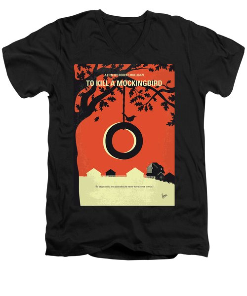 No844 My To Kill A Mockingbird Minimal Movie Poster Men's V-Neck T-Shirt
