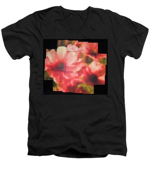 Nocturnal Pinks Photo Sculpture Men's V-Neck T-Shirt
