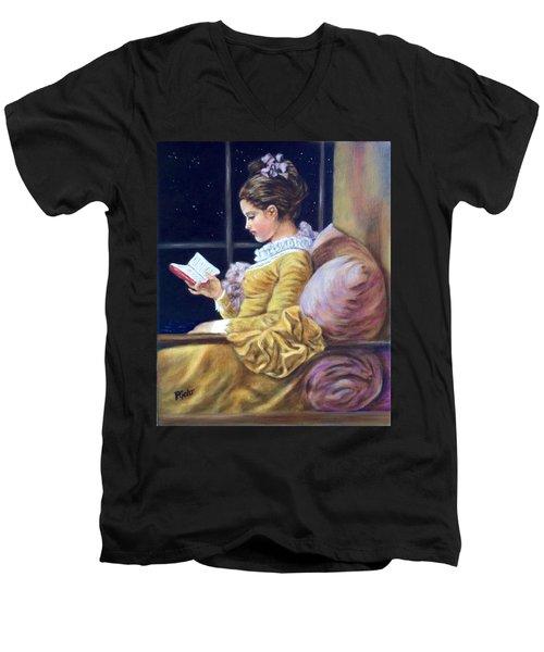 Nocturne Inspired By Fragonard Men's V-Neck T-Shirt
