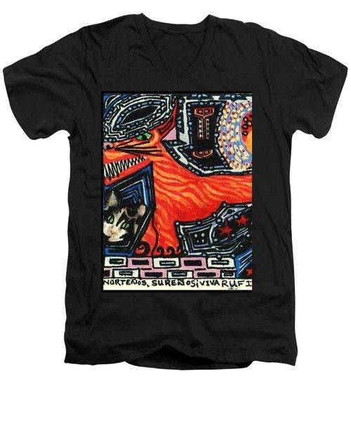 Nortenos Surenos Viva Rufino Tamayo Simon Men's V-Neck T-Shirt