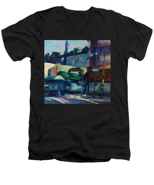 North Beach Men's V-Neck T-Shirt by Rick Nederlof