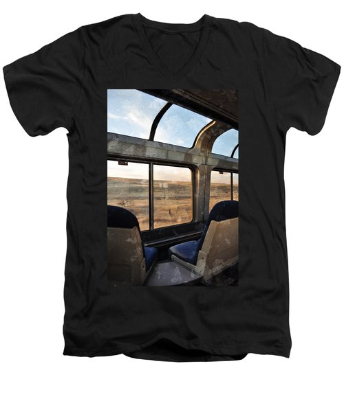 North Dakota Great Plains Observation Deck Men's V-Neck T-Shirt by Kyle Hanson
