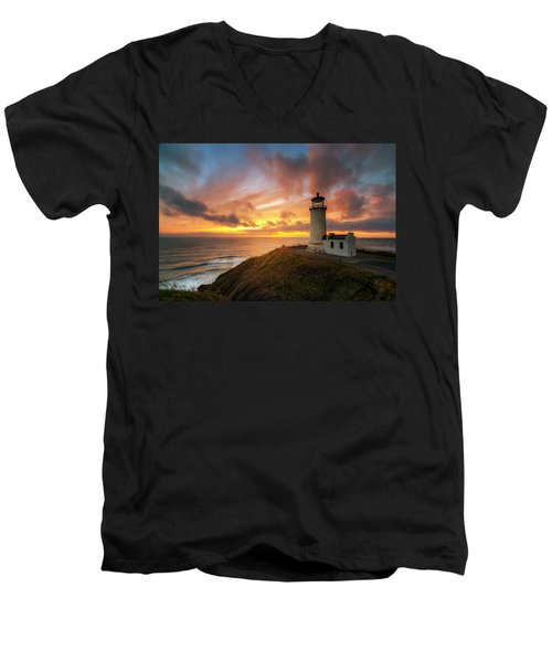 Men's V-Neck T-Shirt featuring the photograph North Head Dreaming by Ryan Manuel