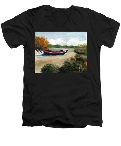 North Topsail Island Men's V-Neck T-Shirt