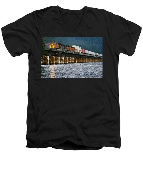 Northbound At Dusk Men's V-Neck T-Shirt