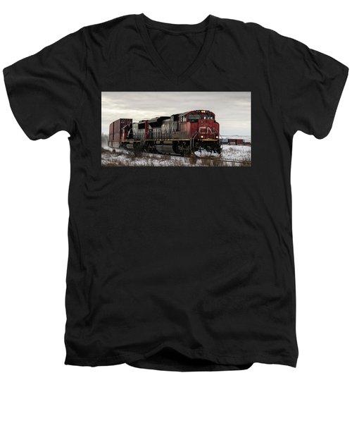 Northbound Double Stack Men's V-Neck T-Shirt