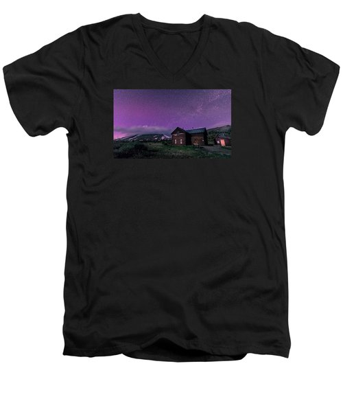 Northern Lights On Boreas Pass Men's V-Neck T-Shirt