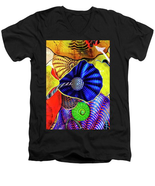 Northwest Glass 2 Men's V-Neck T-Shirt by Greg Sigrist