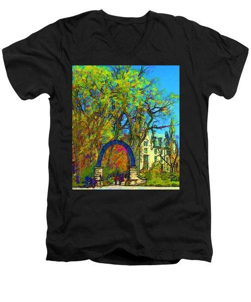 Northwestern Arch  Men's V-Neck T-Shirt