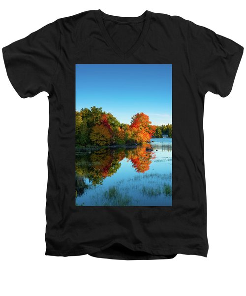 Northwood Lake Autumn Men's V-Neck T-Shirt