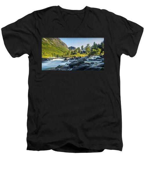 Norway II Men's V-Neck T-Shirt by Thomas M Pikolin