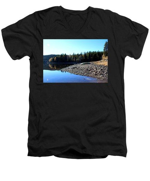 Norwegian Autumn Landscape  Men's V-Neck T-Shirt