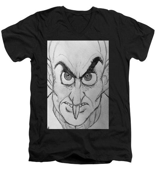 Nosferatu Men's V-Neck T-Shirt by Yshua The Painter