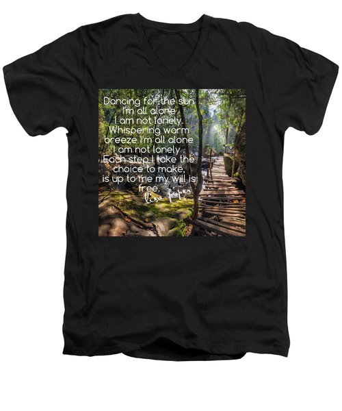 Men's V-Neck T-Shirt featuring the photograph Not Alone by Lisa Piper