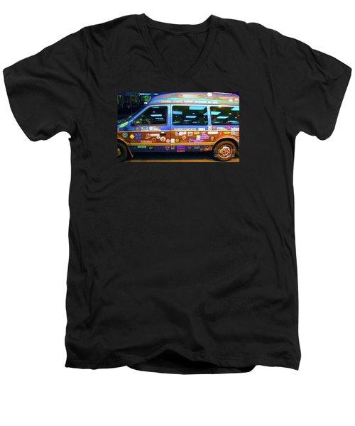 Grateful Dead - Not Fade Away Men's V-Neck T-Shirt by Susan Carella