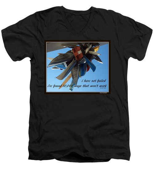 Men's V-Neck T-Shirt featuring the photograph Not Failed by Irma BACKELANT GALLERIES