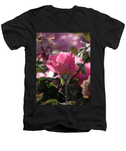 Men's V-Neck T-Shirt featuring the photograph Not Perfect But Special by Laurel Powell