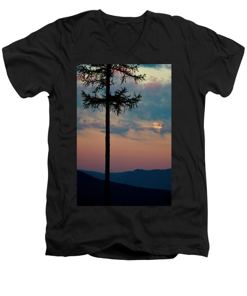 Men's V-Neck T-Shirt featuring the photograph Not Quite Clearcut by Albert Seger
