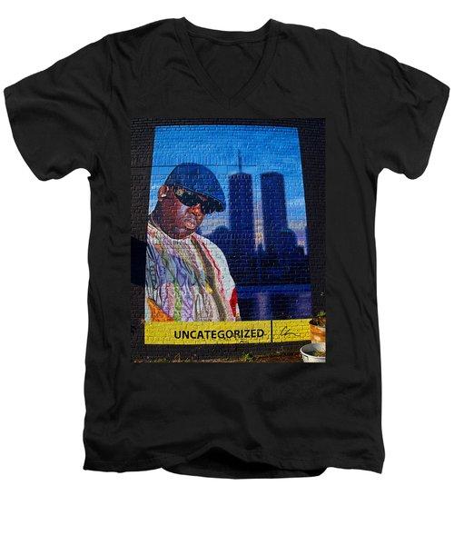 Notorious B.i.g. Men's V-Neck T-Shirt by  Newwwman