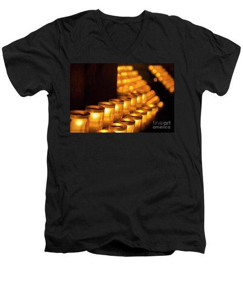Notre Dame Candles Men's V-Neck T-Shirt