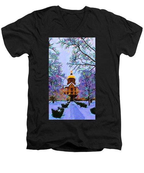 Notre Dame Men's V-Neck T-Shirt