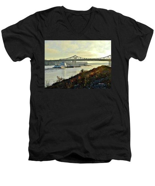 November Barge Men's V-Neck T-Shirt