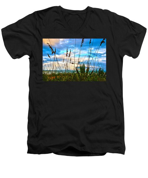 November Day At The Beach In Florida Men's V-Neck T-Shirt