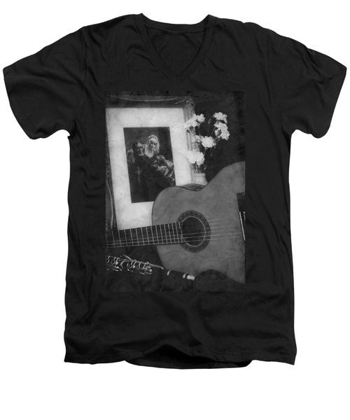 Number 2 Men's V-Neck T-Shirt by Elf Evans