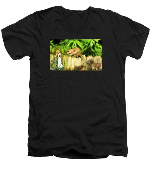 Nutty Buddies Men's V-Neck T-Shirt