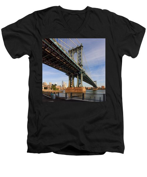 Ny Steel Men's V-Neck T-Shirt