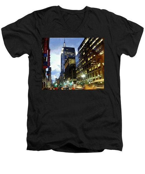 Nyc Fifth Ave Men's V-Neck T-Shirt