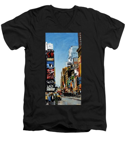 Nyc IIi Cab Dodging Men's V-Neck T-Shirt