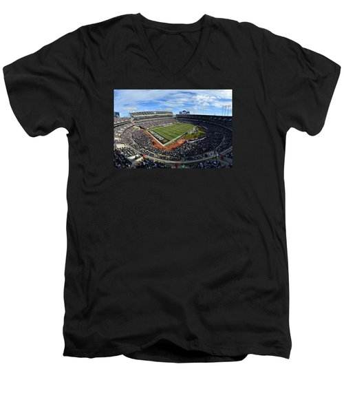 Oakland Raiders O.co Coliseum Men's V-Neck T-Shirt
